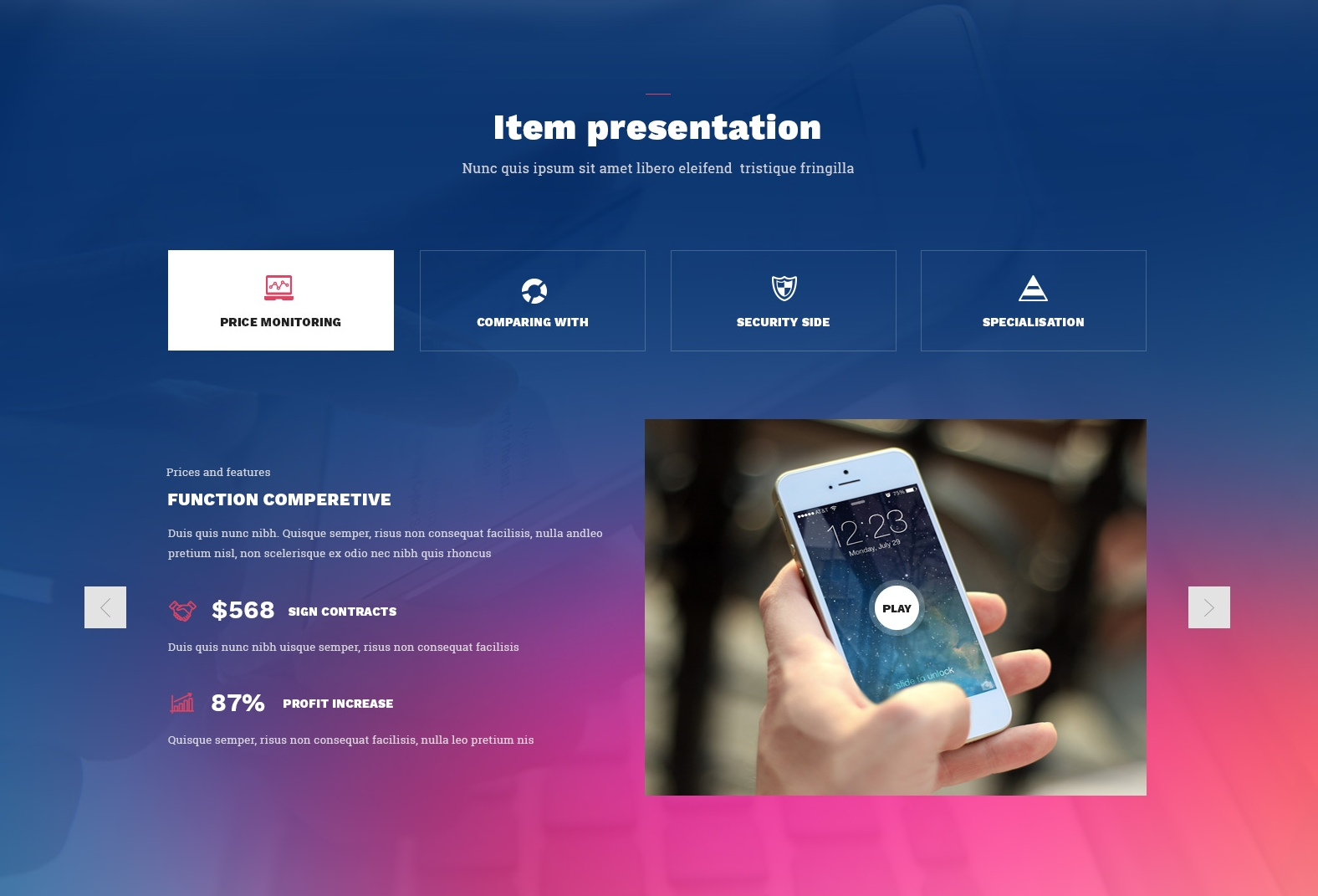 Free Bootstrap Coming Soon Theme