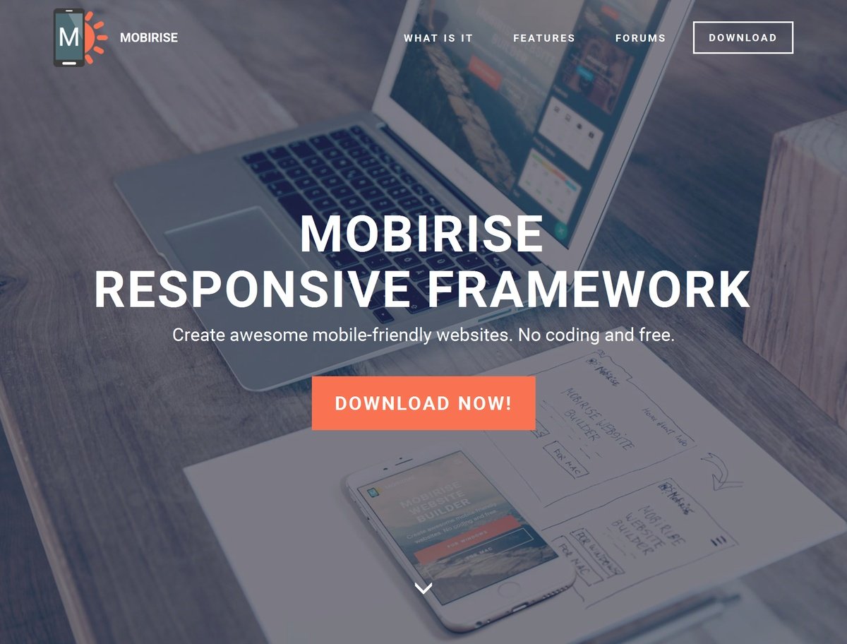 Mobile Responsive Website Template