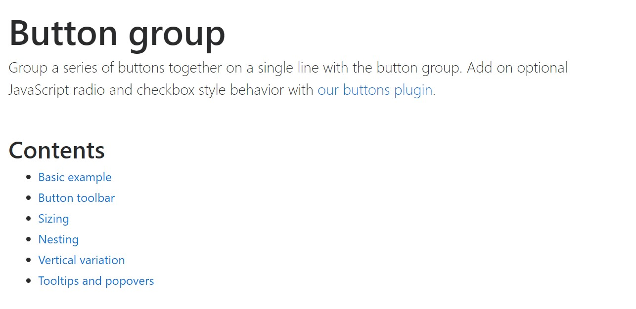 Bootstrap button group  formal  information