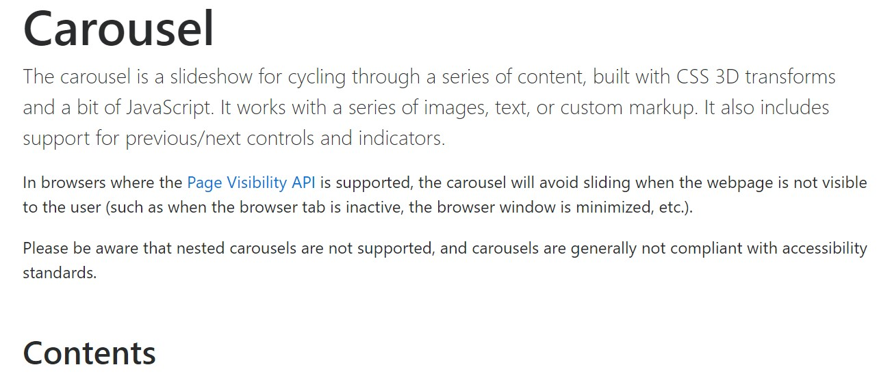 Bootstrap slider  approved documentation