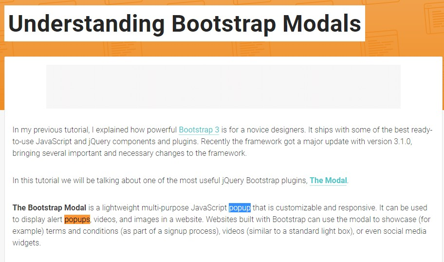 One more  valuable  content  regarding Bootstrap Modal Popup