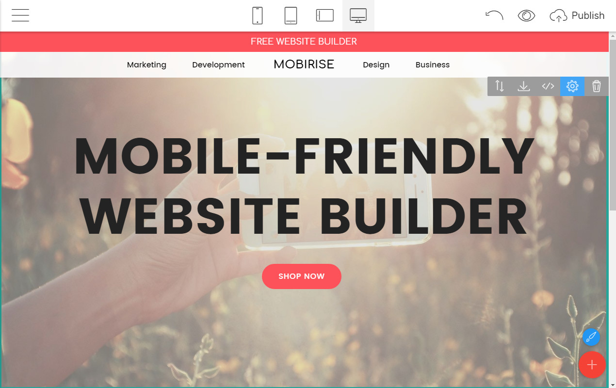 Mobile-friendly Website Maker