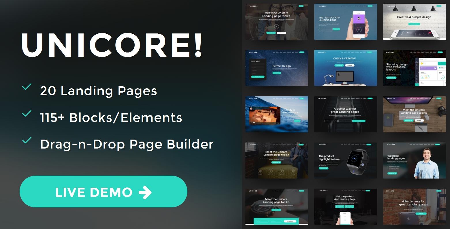 Custom Bootstrap Landing Page Theme Generator