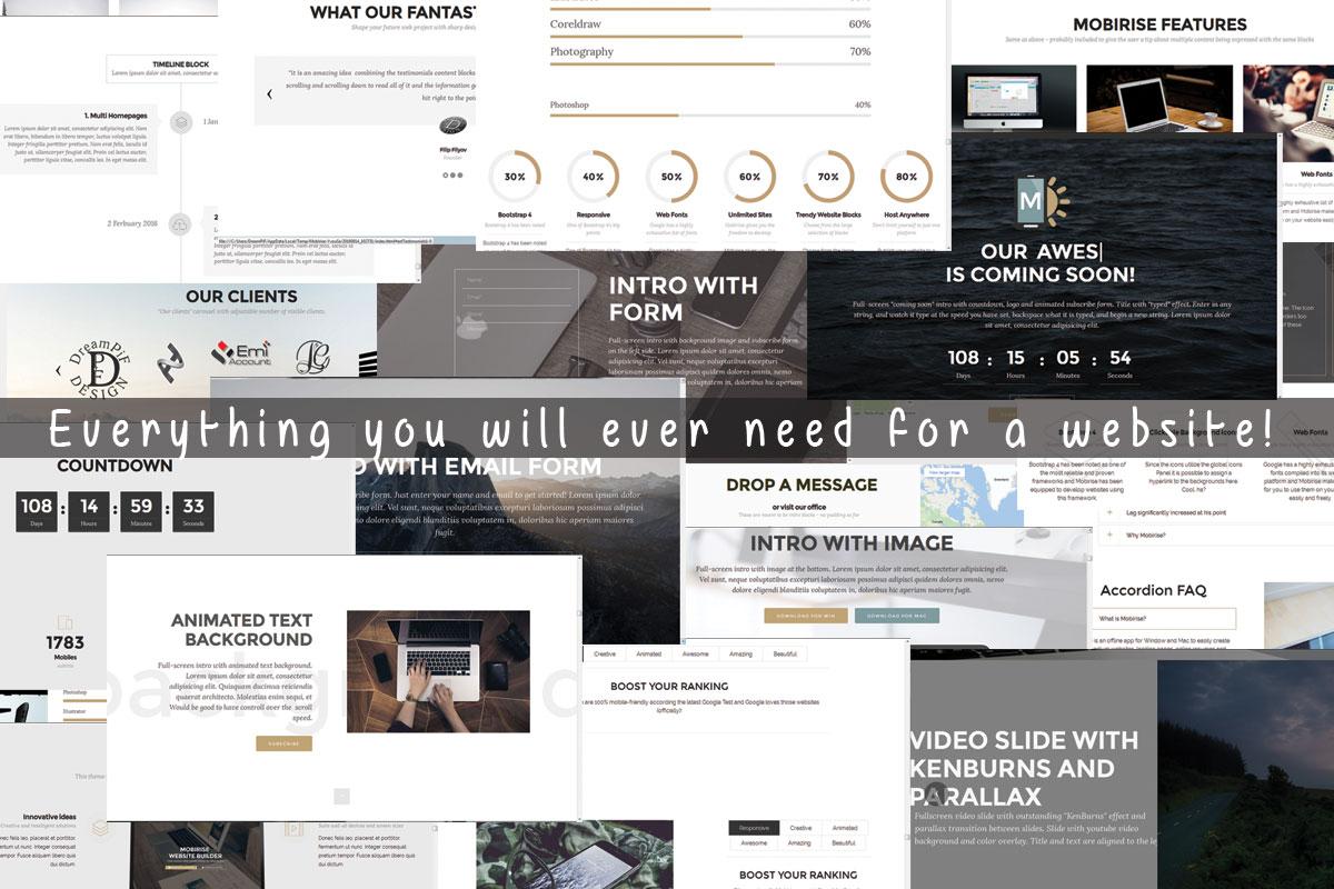 Offline Responsive Web Site Maker