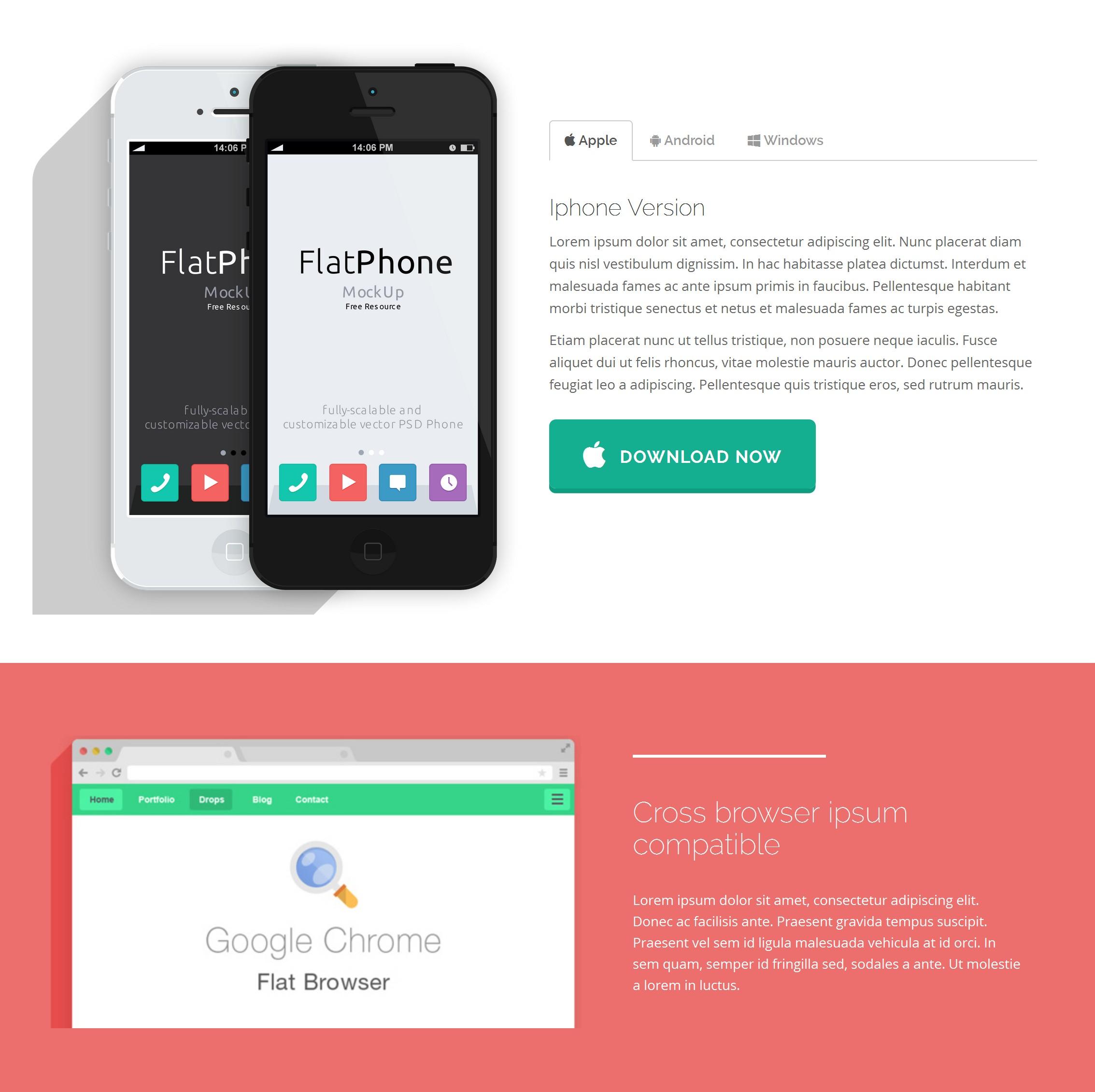 HTML5 Bootstrap App Theme