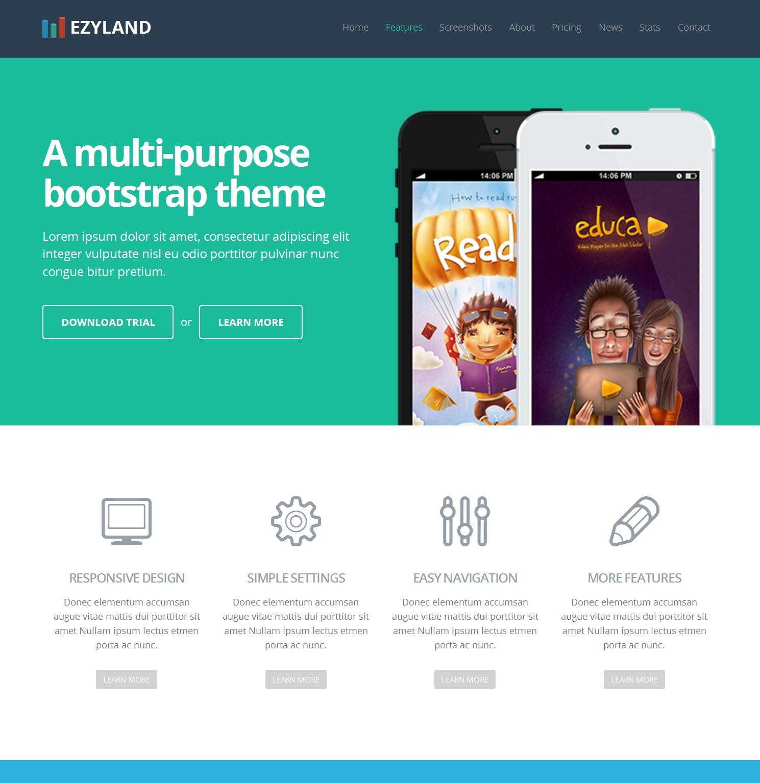 Free Bootstrap Single Page Theme