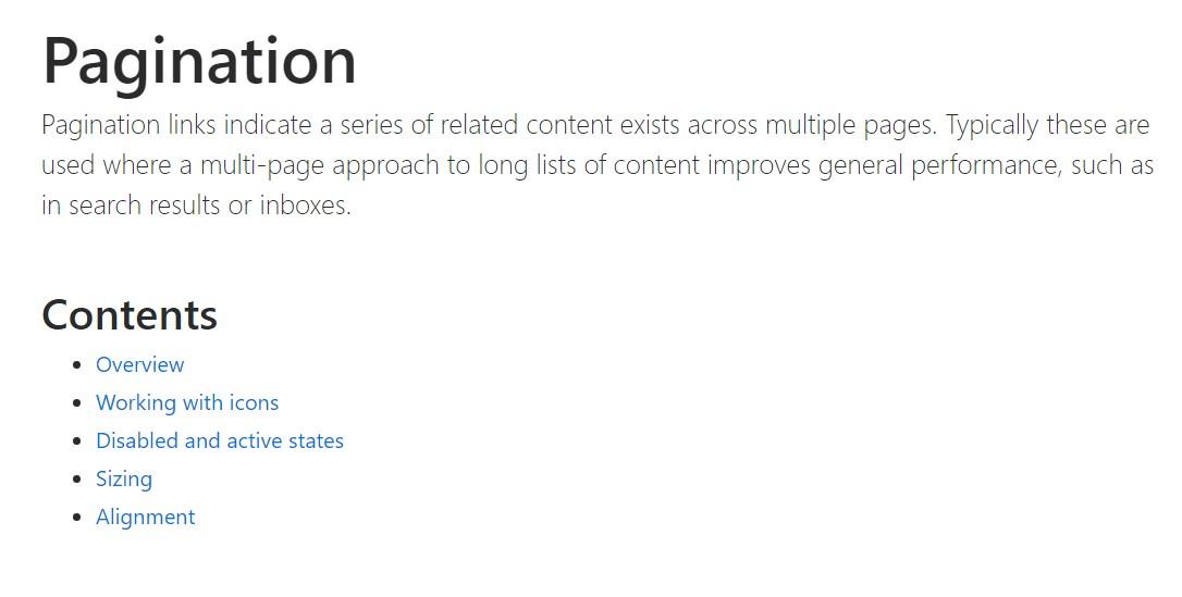 Bootstrap pagination  authoritative  records