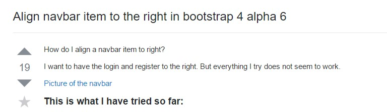 Coordinate navbar  object to the right  inside Bootstrap 4 alpha 6