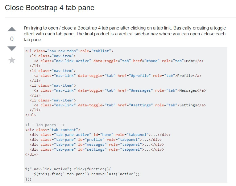 How you can  turn off Bootstrap 4 tab pane