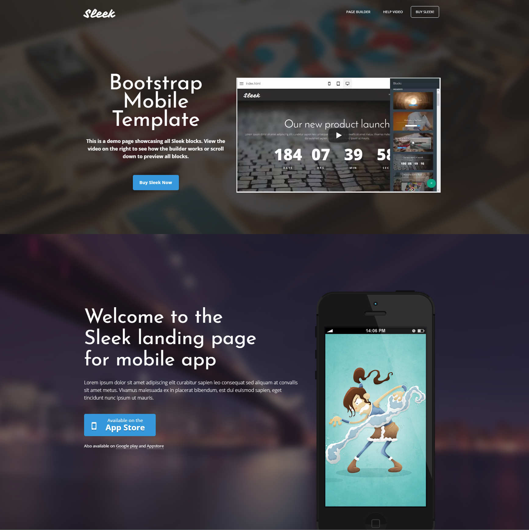 CSS3 Bootstrap Mobile Themes