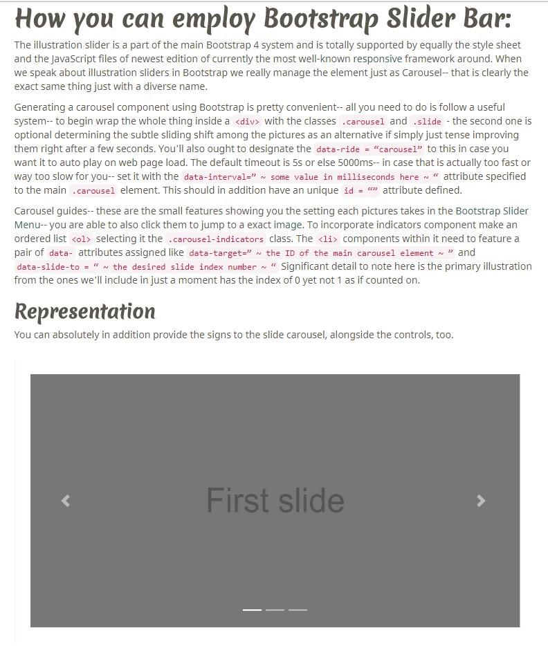 Bootstrap Carousel Slider Example