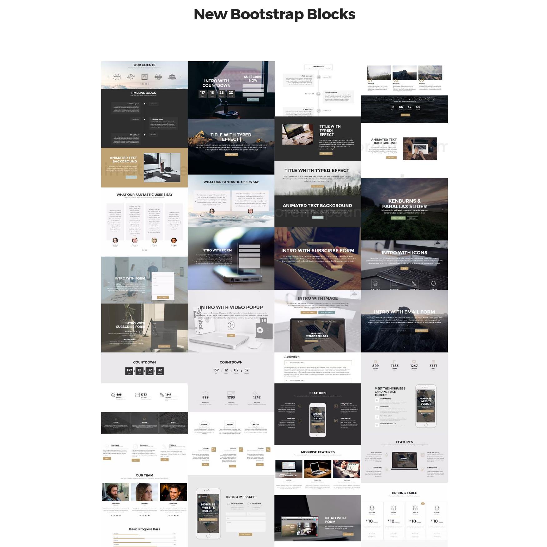 Responsive Bootstrap 4 mobile-friendly blocks Themes