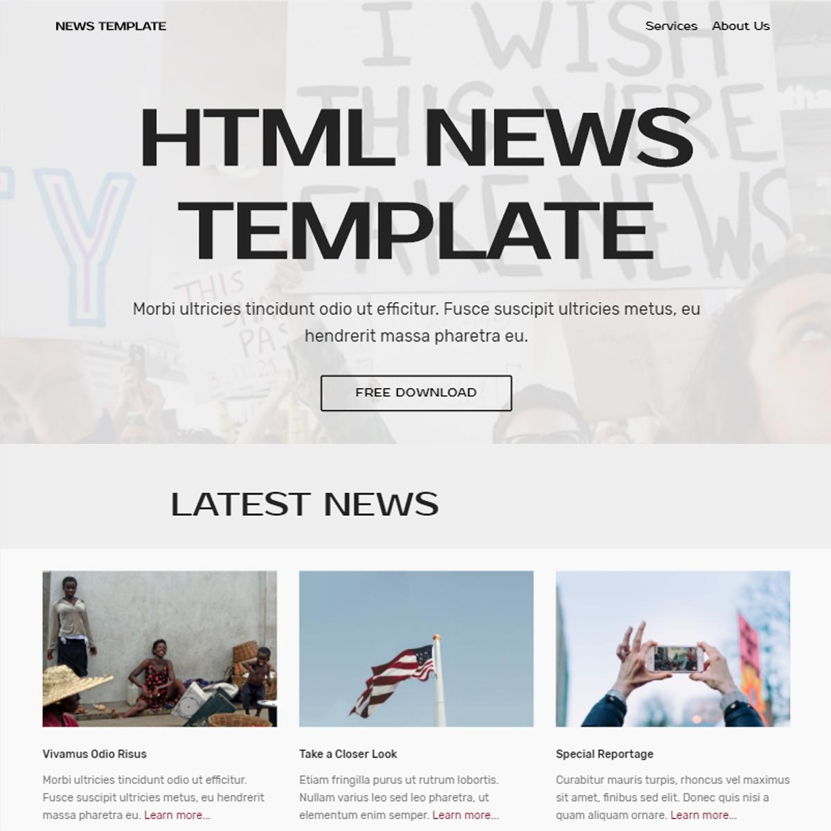 CSS3 Bootstrap News Templates