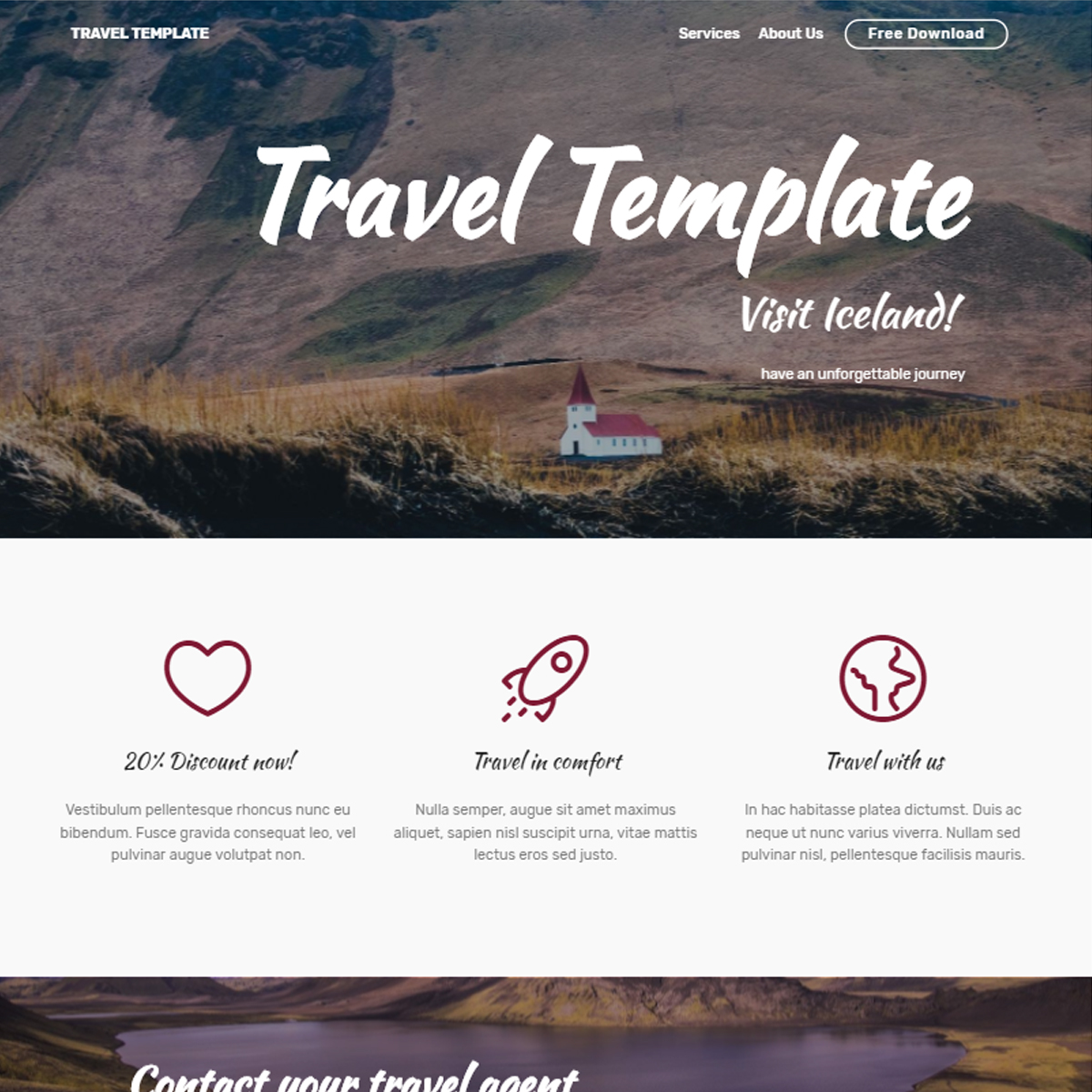 Free Bootstrap Travel Templates